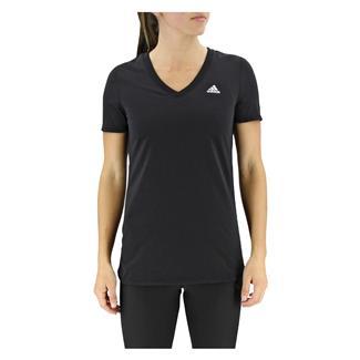 Adidas Ultimate V-Neck T-Shirt Black / Matte Silver