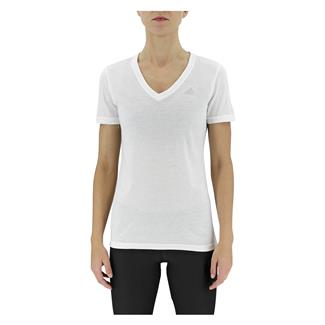 Adidas Ultimate V-Neck T-Shirt White / Matte Silver