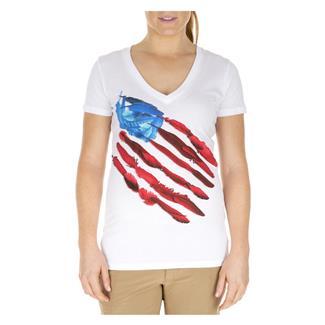 5.11 Feather Flag V-Neck White
