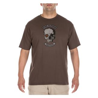 5.11 Topo Skull T-Shirt Chocolate