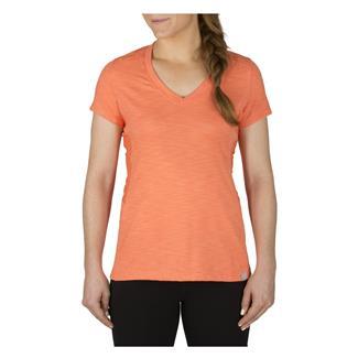 5.11 Zig Zag V-Neck Tactical Shirt Coral