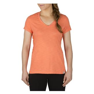 5.11 Zig Zag V-Neck Tactical Shirt Coral