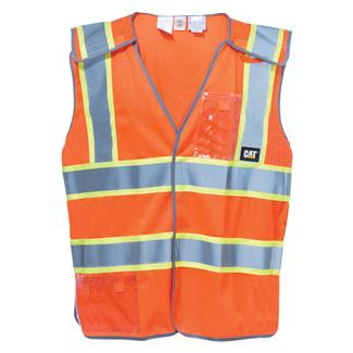 CAT 5 Point Breakaway Safety Vest Hi-Vis Orange