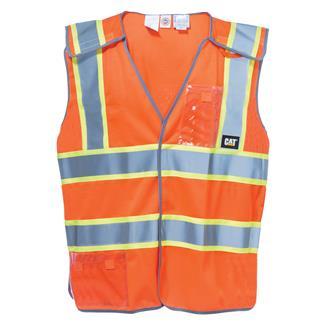 CAT 5 Point Breakaway Safety Vest Hi-Vis Orange