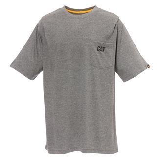 CAT Logo Pocket T-Shirt Dark Heather Gray