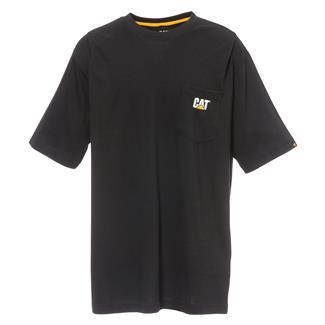 CAT Logo Pocket T-Shirt Black
