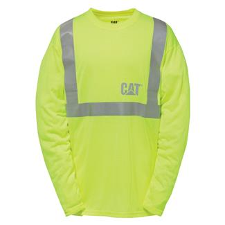 CAT Long Sleeve Hi-Vis T-Shirt Hi-Vis Yellow