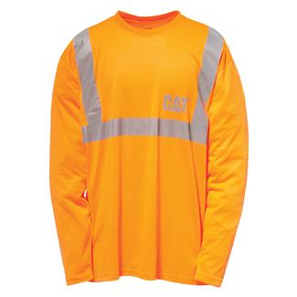 CAT Long Sleeve Hi-Vis T-Shirt Hi-Vis Orange