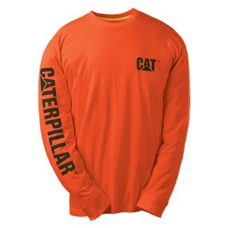 CAT Long Sleeve Trademark Banner T-Shirt Adobe Orange