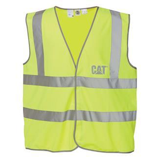 CAT Printed Hi-Vis Vest Hi-Vis Yellow
