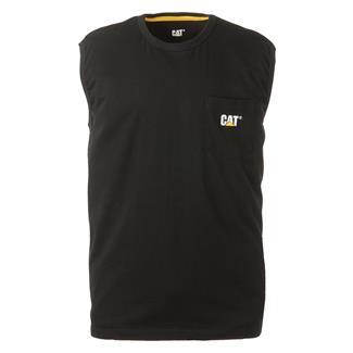 CAT Trademark Sleeveless Pocket T-Shirt Black