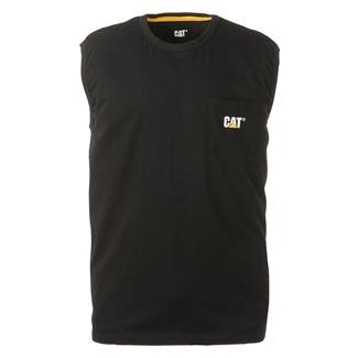 CAT Trademark Sleeveless Pocket T-Shirt Black