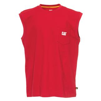 CAT Trademark Sleeveless Pocket T-Shirt Chili Pepper