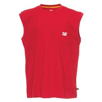 CAT Trademark Sleeveless Pocket T-Shirt Chili Pepper