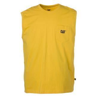 CAT Trademark Sleeveless Pocket T-Shirt Yellow