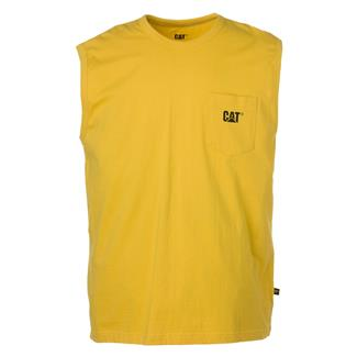CAT Trademark Sleeveless Pocket T-Shirt Yellow