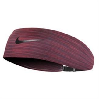 NIKE Adjustable Fury Headband Night Maroon / Gym Red / Black