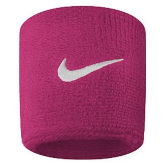 NIKE Swoosh Wristband (2 pack) Vivid Pink / White