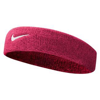 NIKE Swoosh Headband Vivid Pink / White