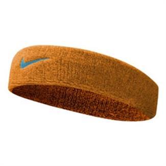 NIKE Swoosh Headband Vivid Orange / Ocean Fog