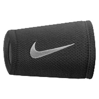 NIKE Dri-FIT Stealth Doublewide Wristband Black / White