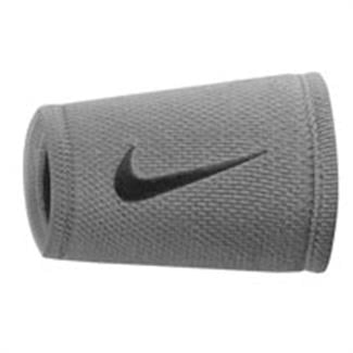 NIKE Dri-FIT Stealth Doublewide Wristband Wolf Gray / Black