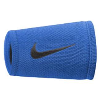 NIKE Dri-FIT Stealth Doublewide Wristband Photo Blue / Black