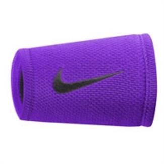 NIKE Dri-FIT Stealth Doublewide Wristband Cosmic Purple / Black