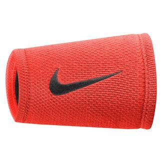 NIKE Dri-FIT Stealth Doublewide Wristband Bright Crimson / Black