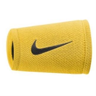 NIKE Dri-FIT Stealth Doublewide Wristband Varsity Maize / Black