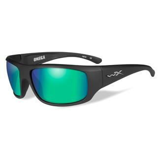 Wiley X Omega Matte Black (frame) - Polarized Emerald Mirror (lens)