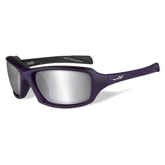 Wiley X Sleek Matte Violet (frame) - Silver Flash (Smoke Gray) (lens)