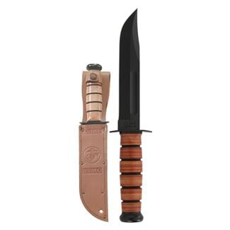 Ka-Bar USMC Fighting / Utility Knife Plain Edge Brown