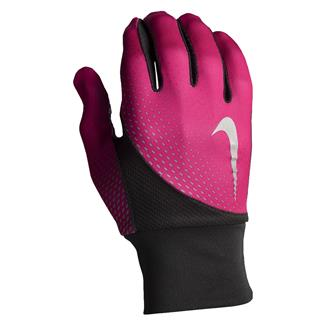 NIKE Dri-FIT Tailwind Run Gloves Pink Pow / Black