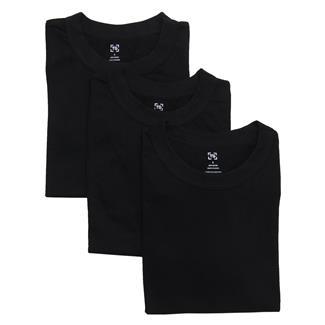 TG Crew Neck T-Shirts (3 Pack) Black