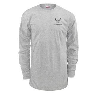 Soffe Long Sleeve Air Force PT T-Shirt Ash
