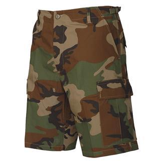 TRU-SPEC Cotton Ripstop BDU Shorts (Zip Fly) Woodland