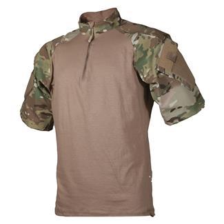 TRU-SPEC Nylon / Cotton 1/4 Zip Short Sleeve Combat Shirt MultiCam / Coyote