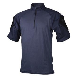 Tru-Spec Nylon / Cotton 1/4 Zip Short Sleeve Combat Shirt Navy / Navy