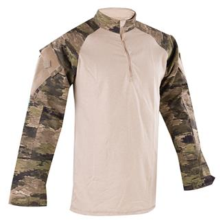 Tru-Spec Nylon / Cotton 1/4 Zip Tactical Response Combat Shirt A-TACS IX / Sand
