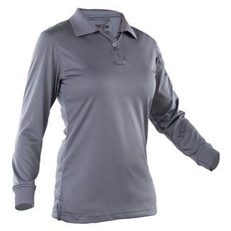 24-7 Series Long Sleeve Performance Polo Steel Gray