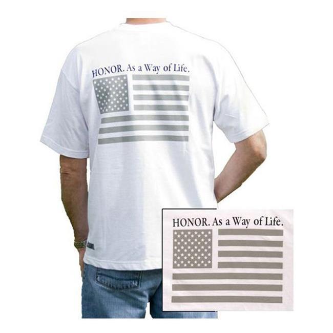 Blackhawk SS Honor T-shirt White (Gray Flag)