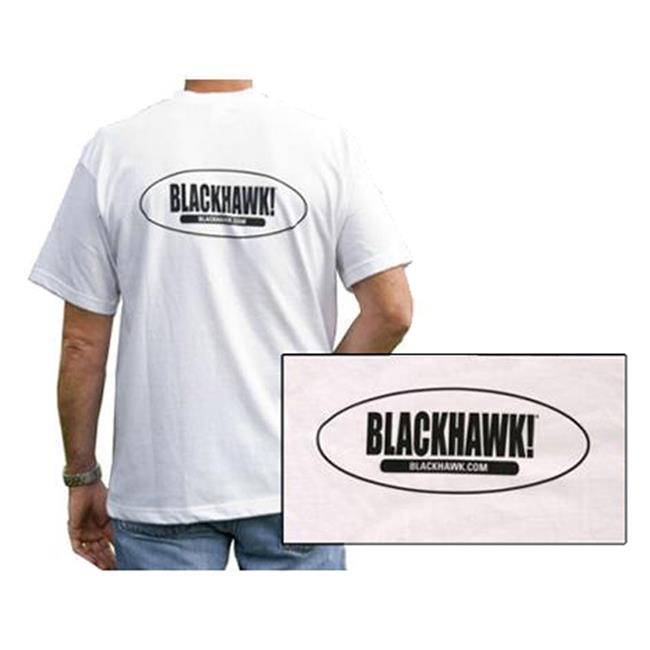 Blackhawk SS Oval Logo T-shirt White