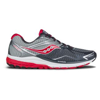 Saucony Ride 9 Gray / Charcoal / Red