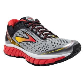 Brooks Ghost 9 Alloy / High Risk Red / Black