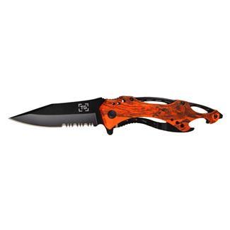 TG Raptor Orange Camo / Black Serrated Edge