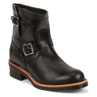 "Chippewa Boots 7"" Original Engineers Black Whirlwind"