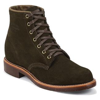 "Chippewa Boots 6"" Original Suede Utility Chocolate Moss"