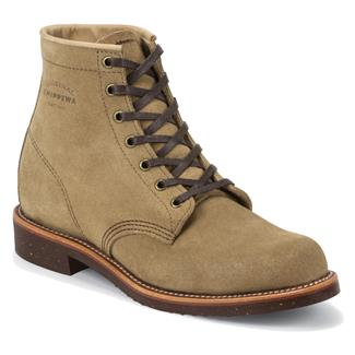 "Chippewa Boots 6"" Original Suede Utility Khaki Suede"