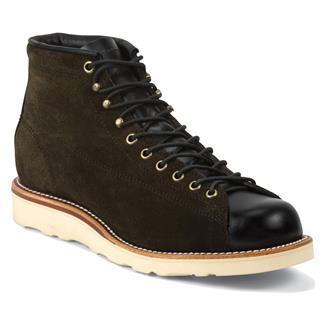 "Chippewa Boots 5"" Original Suede Bridgemen Chocolate Moss"